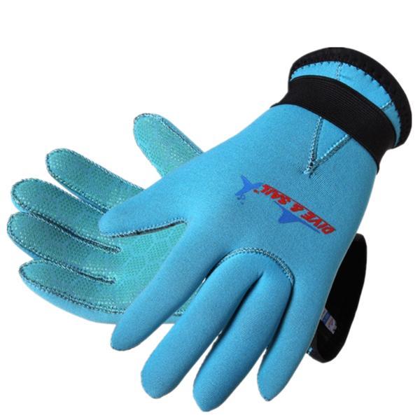 ダイビング グローブ 直営店 子供用 DiveSail 3mm ネオプレン素材 激安通販販売 XL M L マリングローブ ブルー S