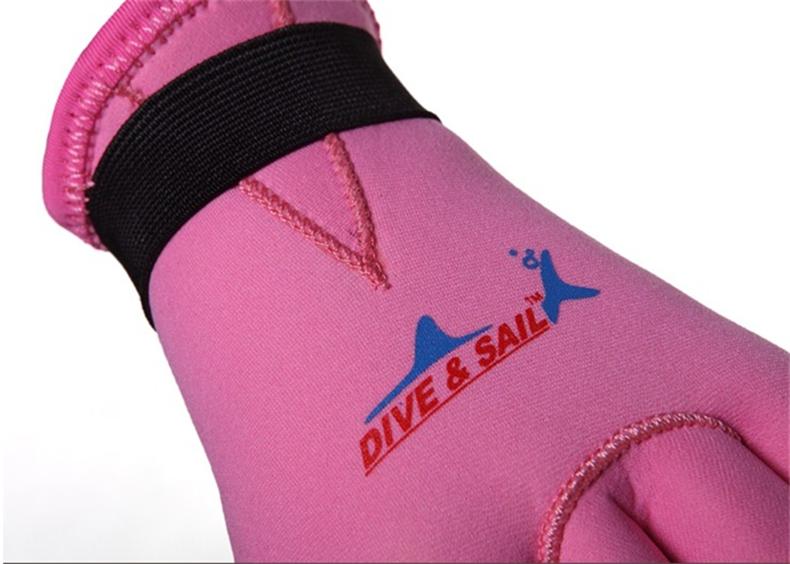 DiveSail 3mm 交換無料 ネオプレン素材 子供用 マリングローブ 超歓迎された L S ピンク M