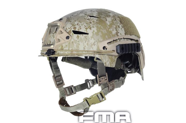 FMA製 EXF TACTICAL BUMPタイプ ヘルメット デザートデジタル(AOR1)