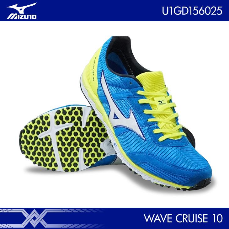 ミズノ:mizuno ウエーブクルーズ 10 WAVE CRUISE 10 U1GD1560 スカイブルー×ホワイト×フラッシュイエロー(25)ランニングシューズ 陸上 マラソン 駅伝