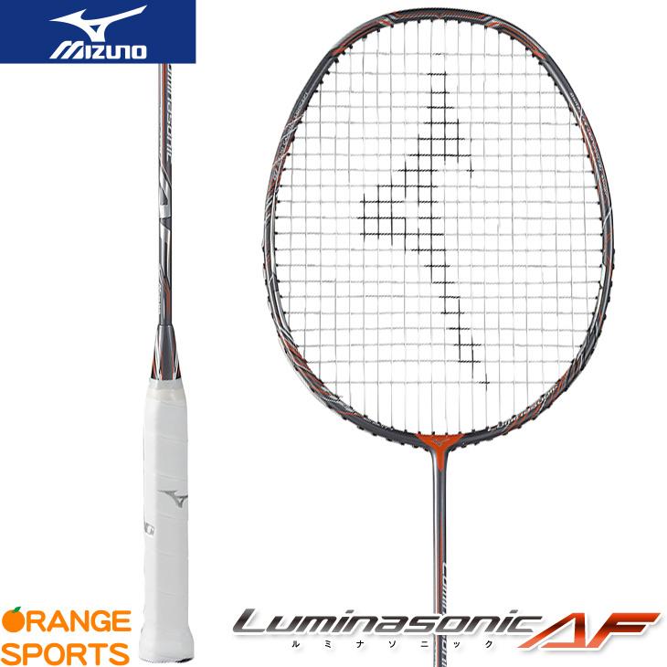 ミズノ MIZUNO ルミナソニックAF Luminasonic AF 73JTB713 バドミントンラケット 5U6 グレー×オレンジ(08)