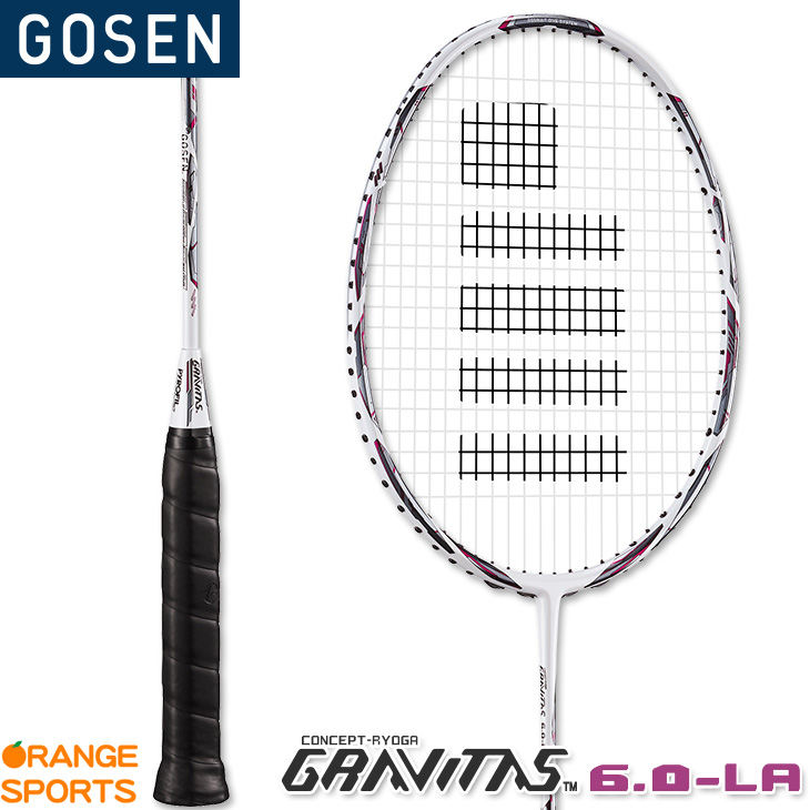 【11月下旬発売予定 予約受付中】 GOSEN ゴーセン グラビタス 6.0-LA GRAVITAS 6.0-LA BGV60LA 4U6 バドミントンラケット
