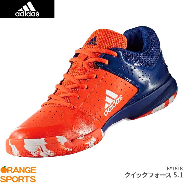 アディダス:adidas クイックフォース 5.1 QUICK FORCE 5.1 BY1818 UNISEX 男女兼用 カラー:レッド バドミントンシューズ