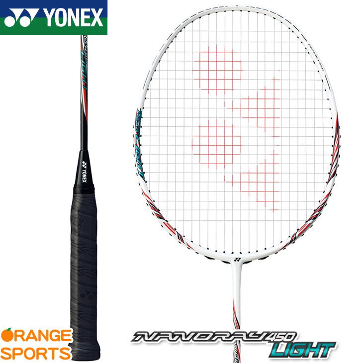 ヨネックス YONEX ナノレイ 450 ライト NANORAY 450 LIGHT NR450LT カラー ホワイト/レッド(114) バドミントン バドミントンラケット 中級者向 4U(平均83g)5・6