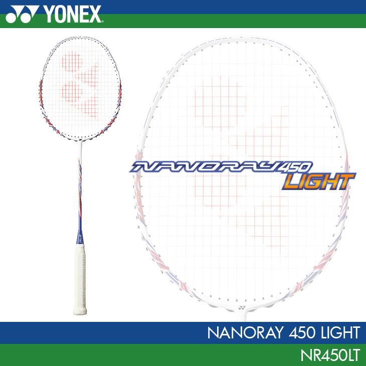 ヨネックス:YONEX ナノレイ 450 ライト NANORAY 450 LIGHT NR450LT カラー:ホワイト/パープル(115)バドミントンラケット 中級者向