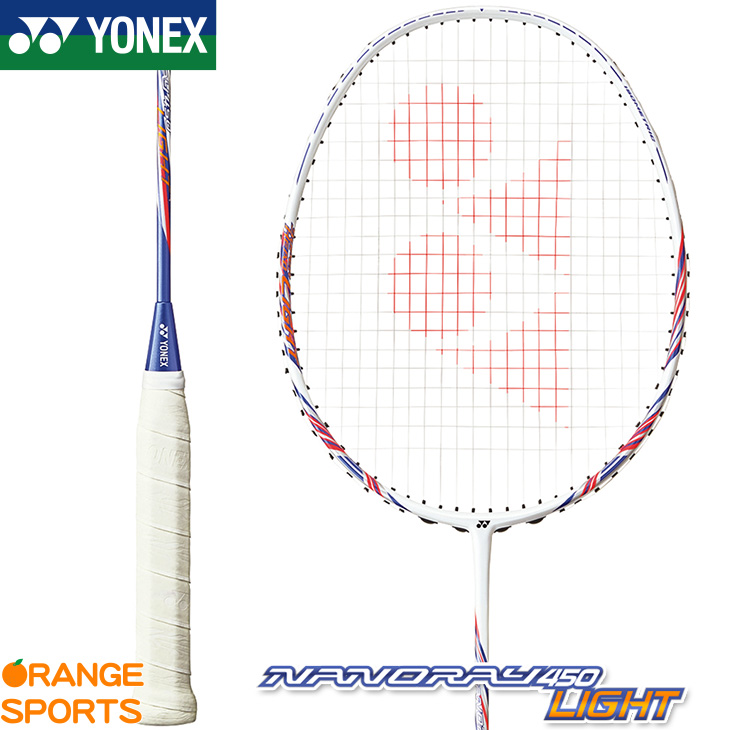 ヨネックス YONEX ナノレイ 450 ライト NANORAY 450 LIGHT NR450LT カラー:ホワイト/パープル(115) バドミントン バドミントンラケット 4U(平均83g)5・6 中級者向