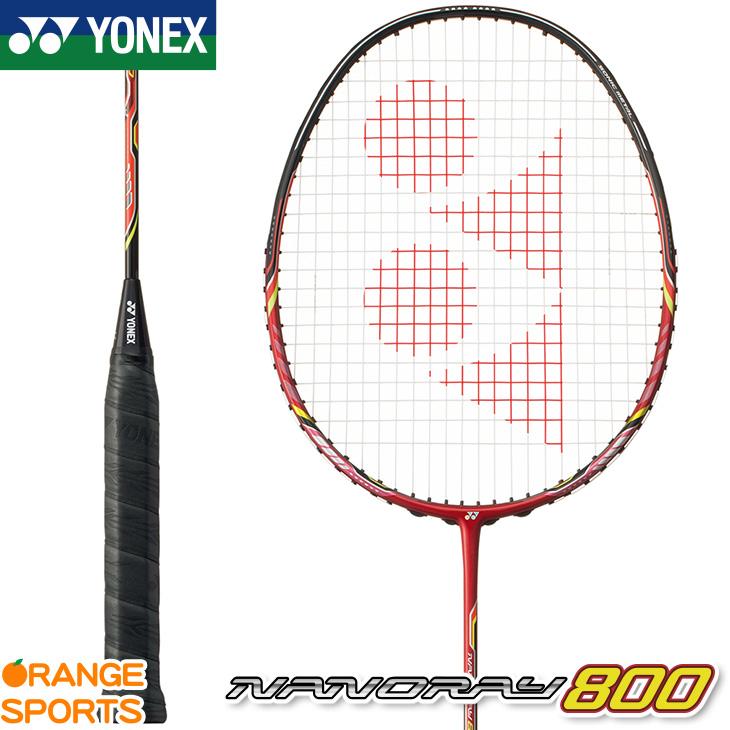 ヨネックス YONEX ナノレイ 800 NANORAY 800 NR800 バドミントン バドミントンラケット ポインセチアレッド(575) 4U(平均 83g)4・5 3U(平均 88g)4・5