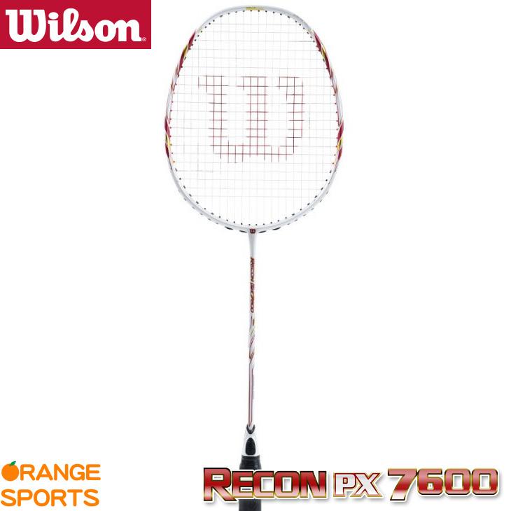 ウイルソン Wilson レコン PX7600 RECON PX7600 WRT8832202 5U5(81.0±2g) ホワイト ヘッドヘビー バドミントンラケット