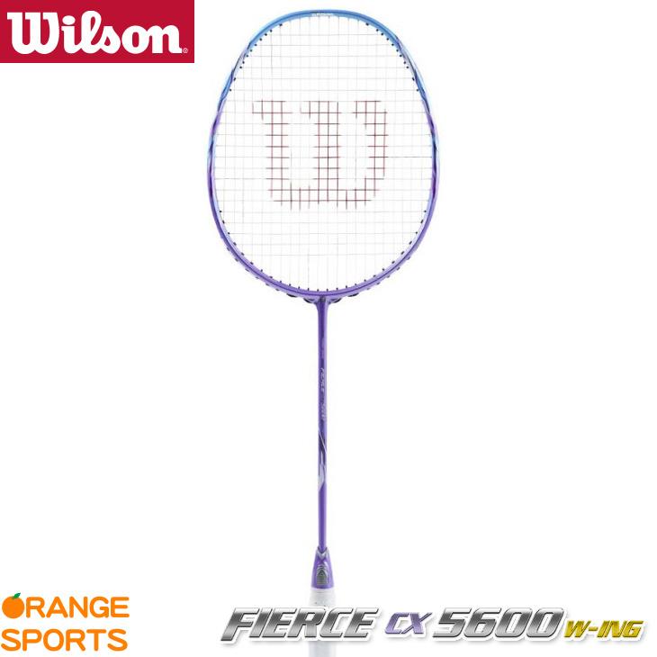 ウイルソン Wilson フィアース CX5600 W-ing FIERCE CX5600 W-ing WRT8871202 4U5(83±2g) イーブンバランス バドミントンラケット