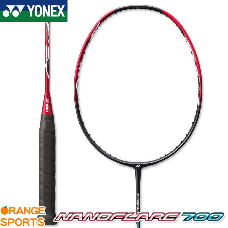 ヨネックス YONEX ナノフレア 700 NANOFLARE 700 NF-700 カラー:レッド(001) バドミントン バドミントンラケット 4U5・6(平均83g) 5U5・6(平均78g)