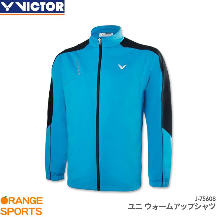 ビクター VICTOR ウォームアップシャツ J-75608 ユニ 男女兼用 スポーツウェア トレーニングウェア バドミントン テニス