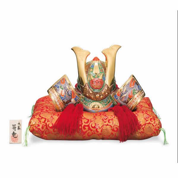 五月人形 兜飾り 10号 錦盛 昇竜作 (布団 立札付き) / 端午の節句 初節句 お祝い ギフト 贈り物 五月人形