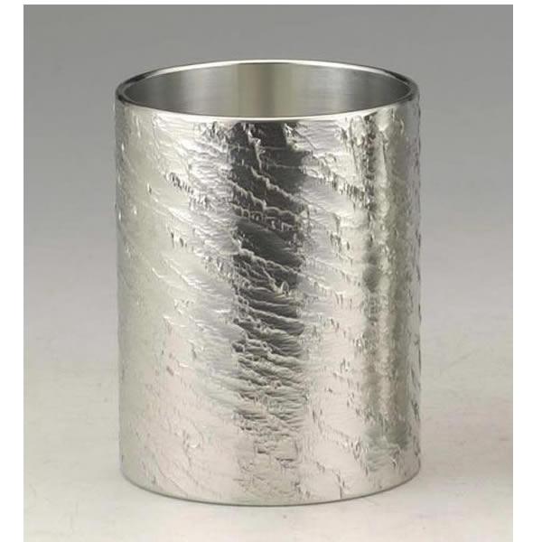 【伝統工芸】大阪錫器 錫製 タンブラー さざなみ 小 175ml 桐箱入り ギフト 誕生日 贈り物 父の日 敬老の日 記念品