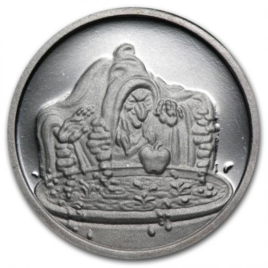 1/2オンス 魔女銀貨 ディズ二ー50周年記念