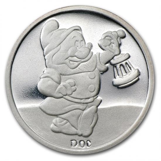 1/2オンス 小人銀貨 ディズ二ー50周年記念