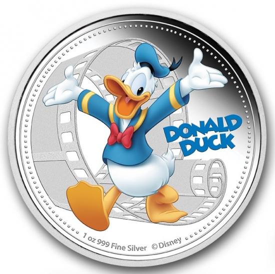 2014年 1オンスプルーフ《色付き》ドナルドダック銀貨