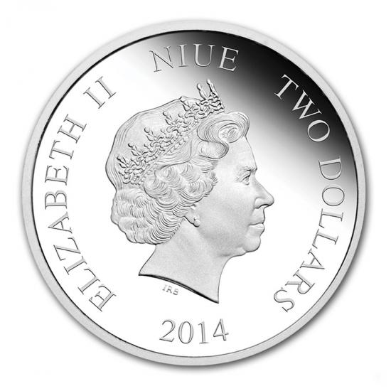 2014年 1オンスプルーフ 色付き デイジーダック銀貨ZiuXTwOPk