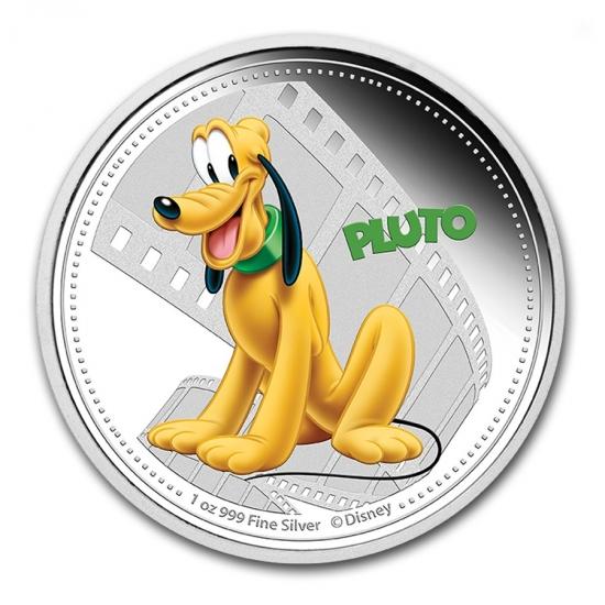 2014年 1オンスプルーフ《色付き》プルート銀貨