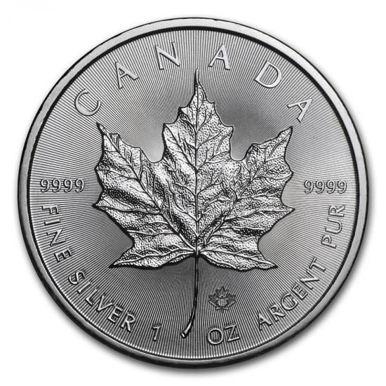 新品未使用 2018 カナダ メイプル銀貨 1オンス 5枚セット 38mmクリアーケース