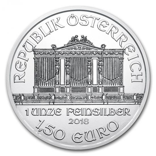 新品未使用 2018 オーストリア ウィーン銀貨1オンス20枚セット 造幣局ケースと【37mmクリアーケース20枚付】