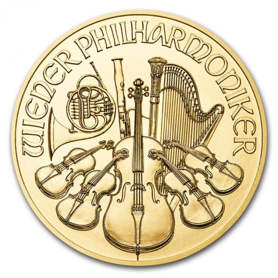 新品未使用 2018 オーストリア ウィーン金貨 1/2オンス(28mmクリアーケース付き)