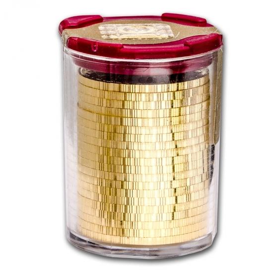 新品未使用 2018 オーストリア ウィーン金貨1/4オンス 20枚セット(22.5mmクリアーケース20枚付き)