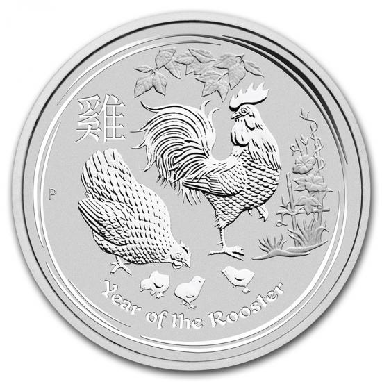 新品未使用 2017 オーストラリア 干支 鳥 銀貨 1キロ クリアーケース付き