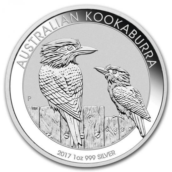 新品未使用 2017 オーストラリア クッカバラ(カワセミ) 銀貨 1オンス5枚セット 41mmクリアーケース付き