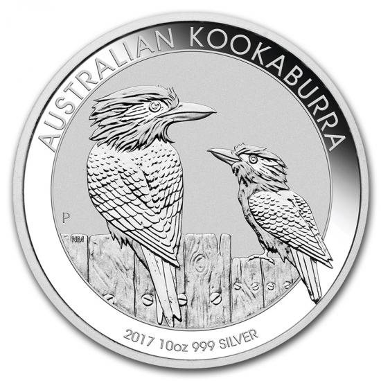 新品未使用 2017 オーストラリア クッカバラ(カワセミ) 銀貨 10オンス クリアーケース付き