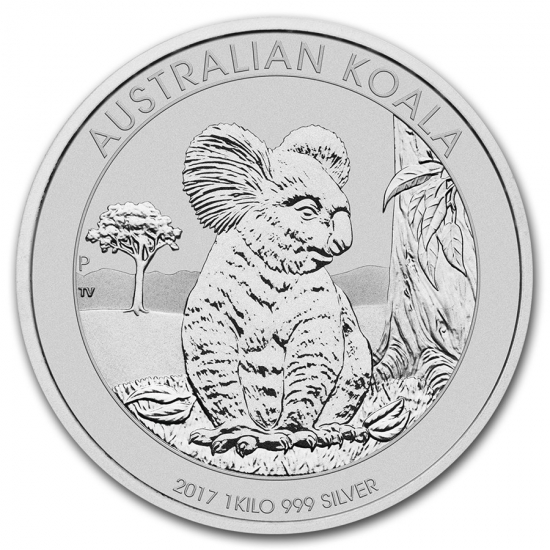 新品未使用 2017 オーストラリア コアラ銀貨【 1キロ】 クリアーケース付き