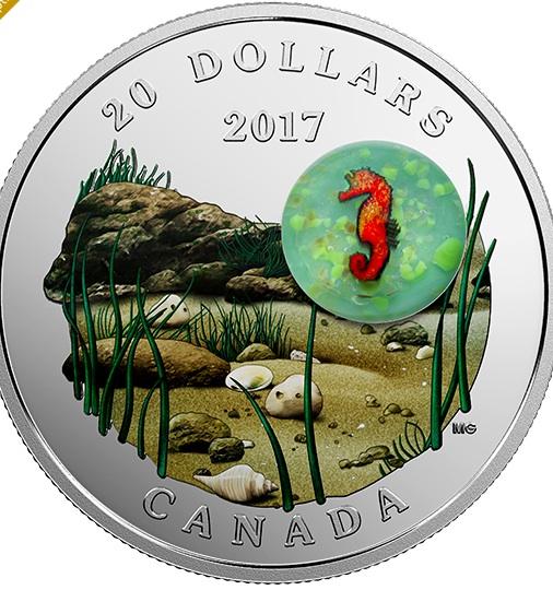 新品未使用 2017 カナダ 海の下で  銀貨1オンス