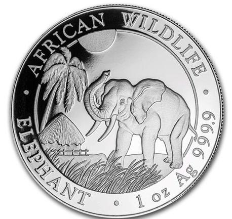 新品未使用 2017  アフリカ  ソマリア エレファント銀貨 1オンス 20枚セット 39mmクリアーケース20枚付き