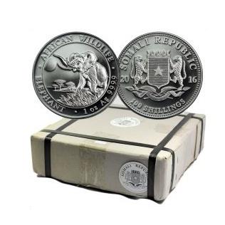 新品未使用 2017  アフリカ  ソマリア エレファント銀貨 1オンス 500枚セット モンスターBOX付き