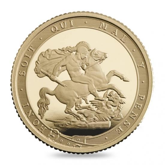 新品未使用 2017 イギリス クオーター ソブリン金貨  プルーフ 200周年記念