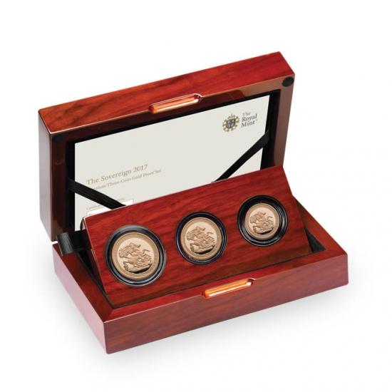 新品未使用 2017 イギリス ソブリン金貨 プレミアム プルーフ 3枚セット