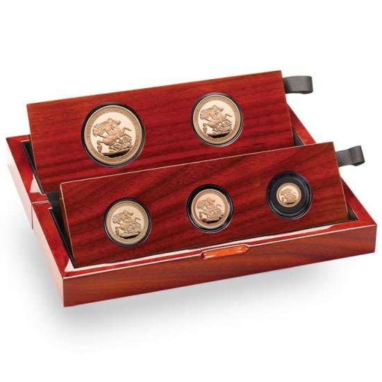 新品未使用 2017 イギリス ソブリン金貨  プルーフ 5枚セット
