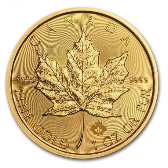 新品未使用 2018 カナダ メイプル金貨1オンス (30mmクリアーケース付き)