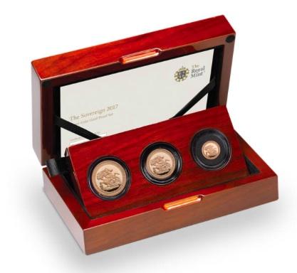 新品未使用 2017 イギリス ソブリン金貨  プルーフ 3枚セット