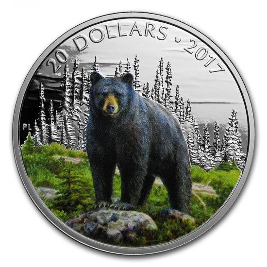 新品未使用 2017 カナダ アメリカクマ  銀貨 1オンス