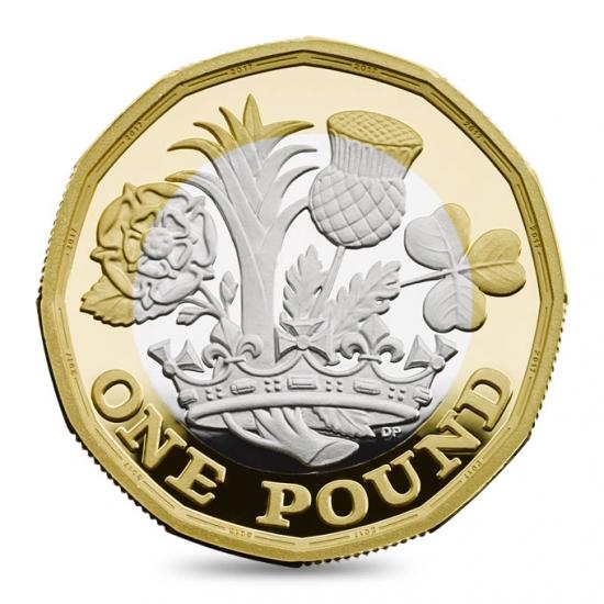 2017 イギリス 王冠と植物 銀貨 プルーフ ピエフォー 1ポンド2色 25000枚限定