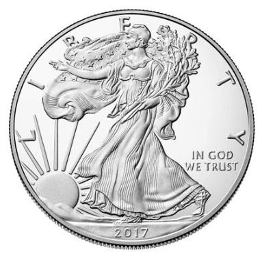 新品未使用 2017 アメリカ イーグル銀貨 1オンス プルーフ 箱付き