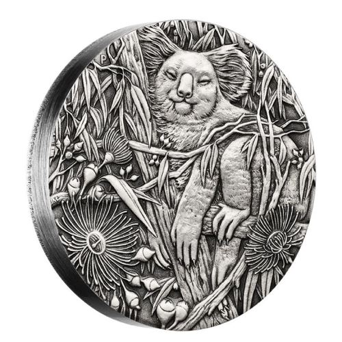 新品未使用 2017 オーストラリア コアラ 2オンス ハイレリーフ 銀貨 アンティーク