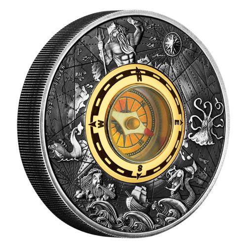 新品未使用 2017 オーストラリア コンパス 2オンス 銀貨 アンティーク
