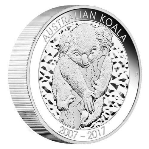 新品未使用 2017 オーストラリア コアラ銀貨【10】オンス プルーフ 箱付き