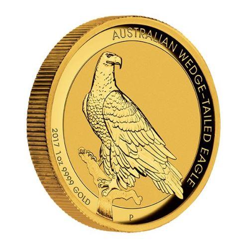 新品未使用 2017 オーストラリア  ウエッジテールイーグル 1オンス ハイレリーフプルーフ金貨