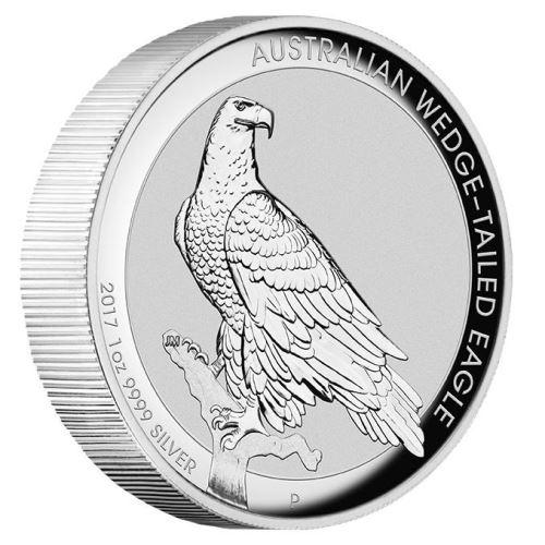 新品未使用 2017 オーストラリア ウエッジテールイーグル 1オンス ハイレリーフプルーフ銀貨