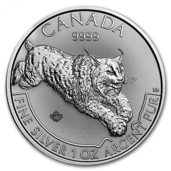 新品未使用 2017 カナダ プレデターシリーズ リンクス銀貨1オンス25 枚セット ミントロール付き