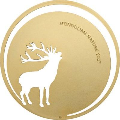 2017 モンゴル 鹿 銀貨