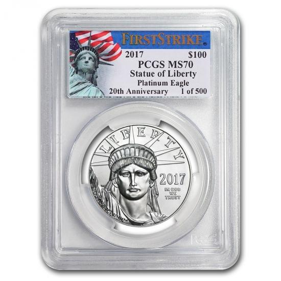 2017 アメリカ イーグル《プラチナ》 1オンス MS-70 PCGS ( ファーストストライク Liberty Label))