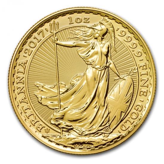 新品未使用 2017 イギリス ブリタニア金貨 1オンス5枚セット(30th Anniversary) 33mm クリアーケース付き
